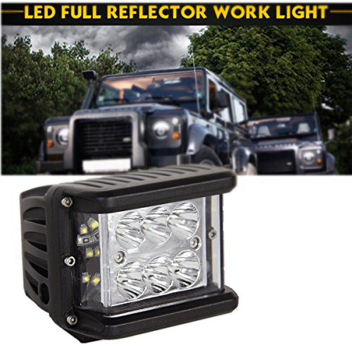 LED Light Bar 4' 60W Full Reflector Side Cube Luminate Both Sides Led Work Light SPOT FLOOD COMBO Driving Lamp for Off-road Truck Car ATV SUV Jeep Boat 4WD ATV Auxiliary