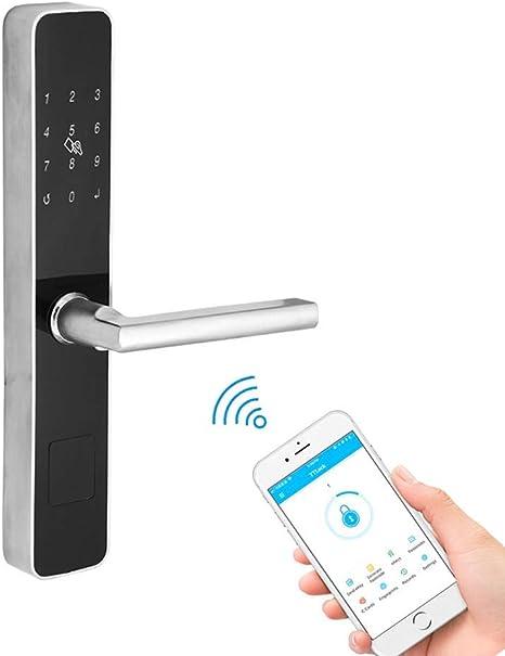 Candado gancho para puerta corrediza aluminio electrónico estándar europeo Código digital WiFi Candado huellas dactilares Bluetooth, núcleo cerradura Super C alta seguridad y llave mecánica oculta: Amazon.es: Deportes y aire libre