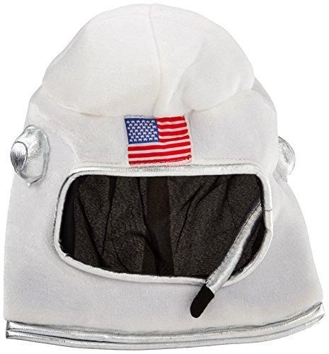 Beistle 60041 Plush Astronaut Helmet, , White/Red/Blue (Adult Astronaut Helmet)