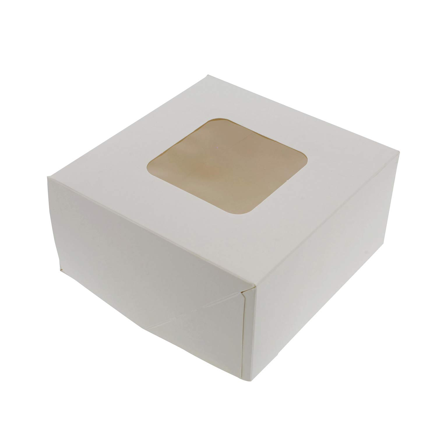 SpecialT White Bakery Boxes with Window, 200pk - 6'' x 6'' Inch Cake Boxes, Party Favor Boxes, Candy Boxes, Dessert Boxes by SpecialT (Image #5)