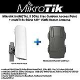 Mikrotik NetMETAL 5 5Ghz 11ac Outdoor AP +mANT15s 5GHz 120 15dBi Sector Antenna