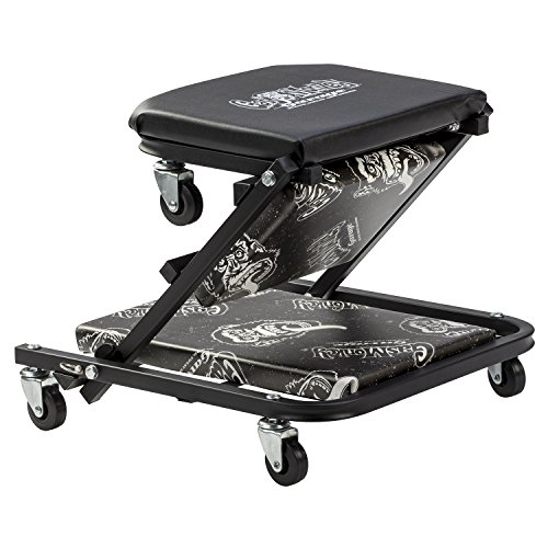 Gas Monkey Z Creeper Mechanic Seat - Six Rolling Casters with 300 Lbs Capacity for Automotive Car Garage by Gas Monkey (Image #3)