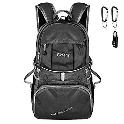 Gkeeny Lightweight Foldable Backpack 35L Ultralight Waterproof Travel Hiking Camping Backpack Daypack