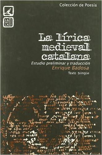 Lirica Medieval Catalana. Estudio Preliminar
