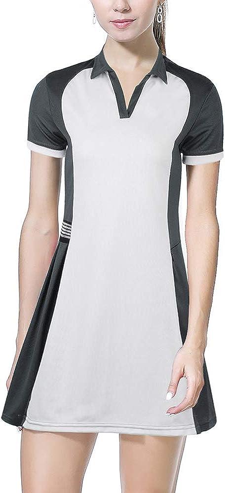 ANIVIVO Tennis Dress for Women with Pocket, Women Polo Golf Dress& Tennis Clothing for Women Sports Dress V-Neck