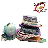 Set of 25 Multi Colored Agate Slices Beverly Oaks Exclusive with Certificate of Authenticity