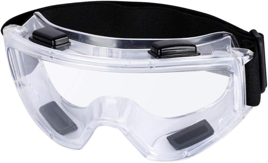 Garneck Gafas Protectoras de Seguridad Gafas Protectoras sobre Gafas con Correa Ajustable Transparente