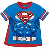 Superman Toddler Boys' T-shirt with Cape - Blue