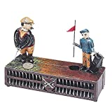 Bits and Pieces - Golf Cast-Iron Mechanical Bank - Novelty Personal Coin Bank for Golfers and Collectors