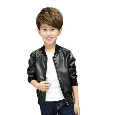 f5b014f53905e6 Style Madness Baby Boy Leather Jackets/Kids Black Leather Jackets ...