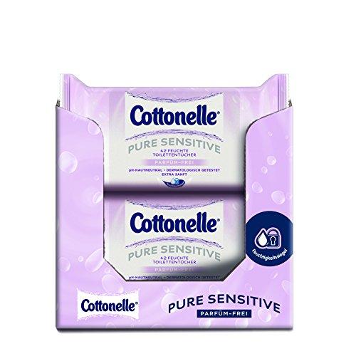 Cottonelle Feuchtes Toilettenpapier Pure Sensitive Nachfüllpack,12er Pack (12x 42 Tücher)