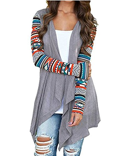 Teen Girls Contrast Color Shawl Collar Knit Soft Cardigans G