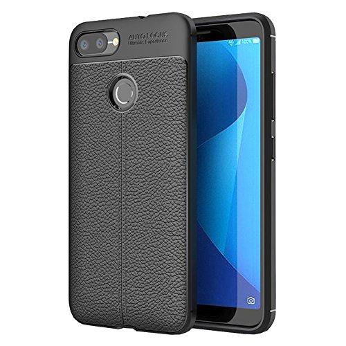 ZenFone Max Plus M1 Case, Vinve Slim TPU Shock Absorption Anti-Scratches Flexible Soft Protective Case Cover for ASUS ZenFone Max Plus M1 ZB570TL (Black)