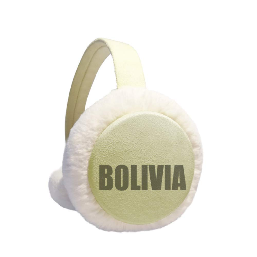 Bolivia Country Name Winter Warm Ear Muffs Faux Fur Ear