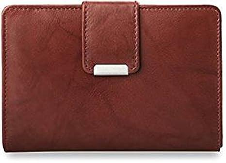 c6ab70b75e281 praktisches Damen - Portemonnaie Leder - Geldbörse (braun)  Amazon ...