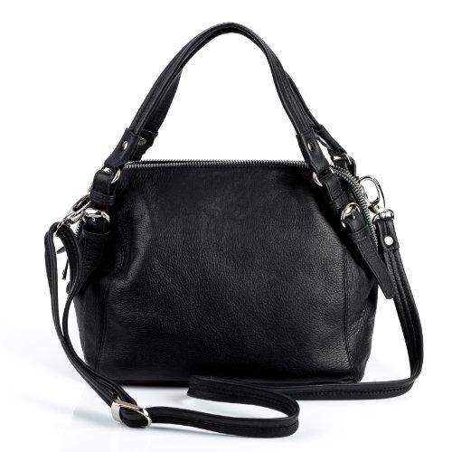 BACCINI bolso de mano SUSI de cuero auténtico - cartera con asas cortas & estilo tote-bag (26 x 20 x 16 cm)