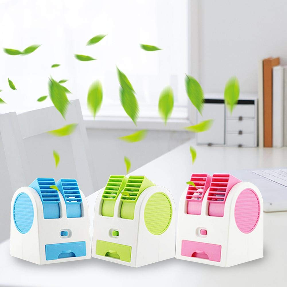 Portable Small Quiet Personal Cooling Fan Summer Table Fan Air Cooler Humidifier Misting Fan for Refrigeration Fresh Air Ditional USB Mini Air Conditioner