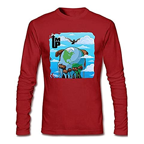 YangJJ Men's Young Thug I'm Up Long Sleeve T shirts Size XXXL Red (What Did Kanye)