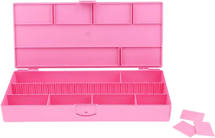 Display08 - Caja organizadora de Joyas, con Varias Rejillas para salón, para organizar Anillos de Cuerda y Cuentas: Amazon.es: Hogar