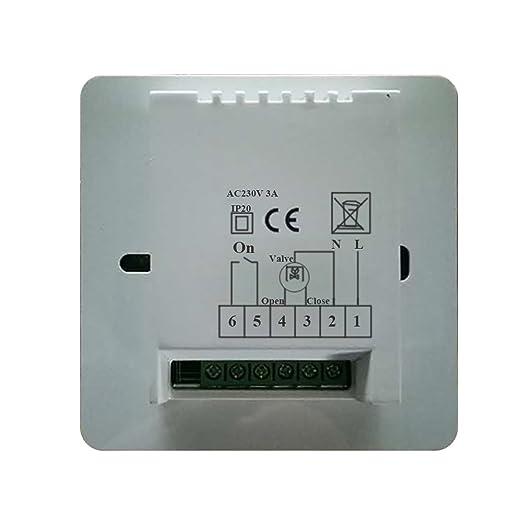 16A 3A termostato programable digital programador semanal para - calefaccion suelo de agua / electricidad - caldera gas / electrico: Amazon.es: Bricolaje y ...