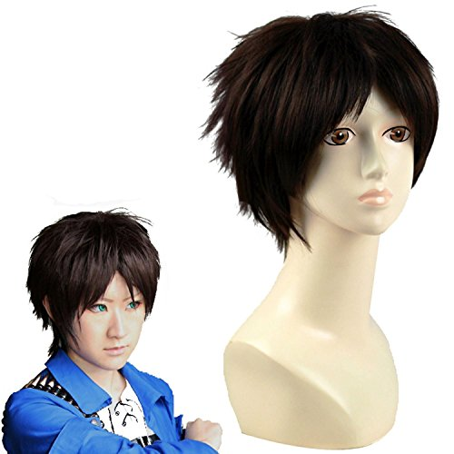 Anangelhair + Free Hair Cap Japanese Anime Attack on Titan Eren Jaeger Cosplay Wig Costume Party (Attack On Titan Eren Cosplay)