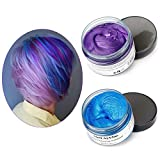 Mofajang Hair Color Wax,INST Temporary Hair Dye,Hair Coloring Wax,Washable Temporary, Natural Hairstyle Color Wax for Party,Halloween,Cosplay(Blue+Purple)