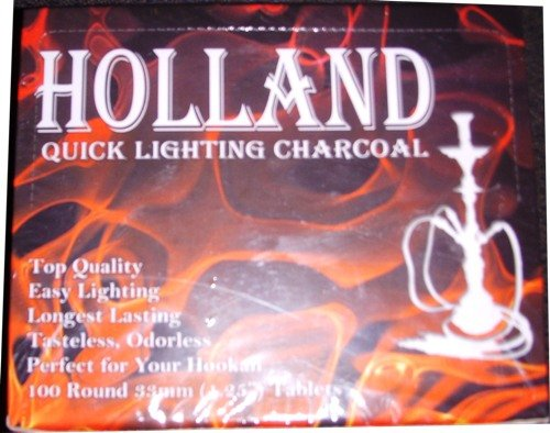 Quick Lighting Hookah Charcoal Box 100 Round Pieces