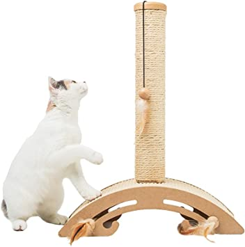 MEWANG Poste rascador para Gatos pequeños y Gatitos, Arco para ...