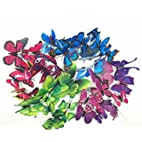 3D Butterfly Wall Art Sticker 72PCS / Butterfly Magnet Wall Decoration Insect Wall Stickers