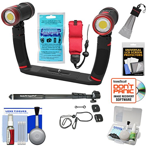 SeaLife SL989 Underwater Photo/Video Sea Dragon Duo 5000 Video Light Set with Aquapod + Silica Gel + Floating Strap + Accessory Kit by SeaLife