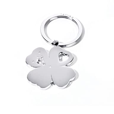 Troika PorteClés Trèfle GIRLS BEST FRIENDS CLOVER Chrome - Porte clé swarovski