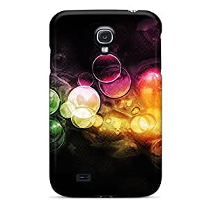 Premium Protection Abstract Multicolor Circles Bubbles Bokeh Case Cover For Galaxy S4- Retail Packaging by lolosakes