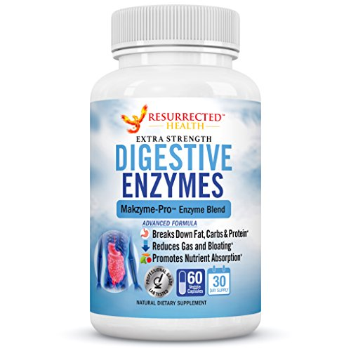 Digestive Enzymes – Aids in Digestion and Nutrient Absorption – Multi Enzyme Supplement for Bloating & Gas Relief – Helps with IBS + Stomach Aches + Lactose Intolerance + Leaky Gut + Acid Reflux