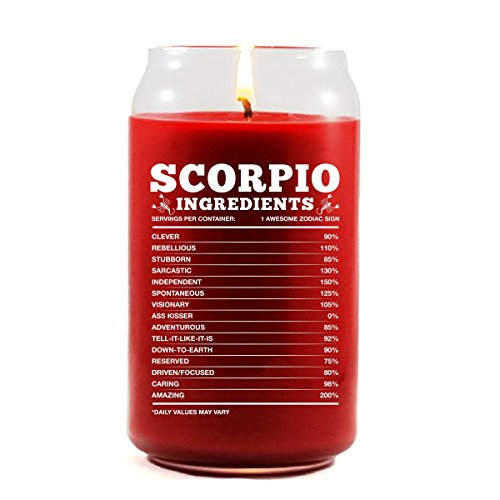 Scorpio Ingredients Scorpio Zodiac Star Sign Gift - Scented Candle