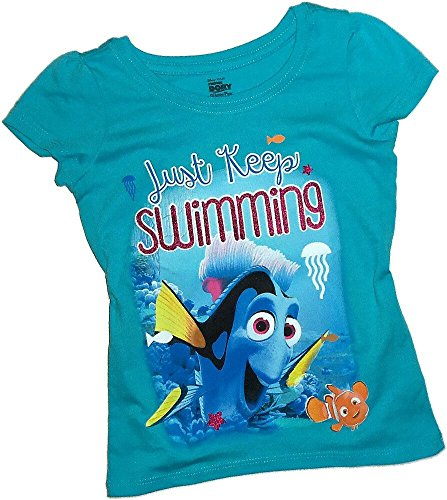 Just Keep Swimming -- Disney Pixar Finding Dory Toddler Girls T-Shirt, Toddler Medium (3T) (Swimming Merchandise compare prices)