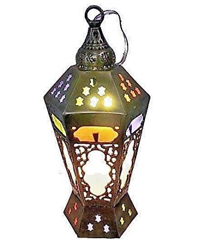 Egyptian Brass Pendant Light in US - 8