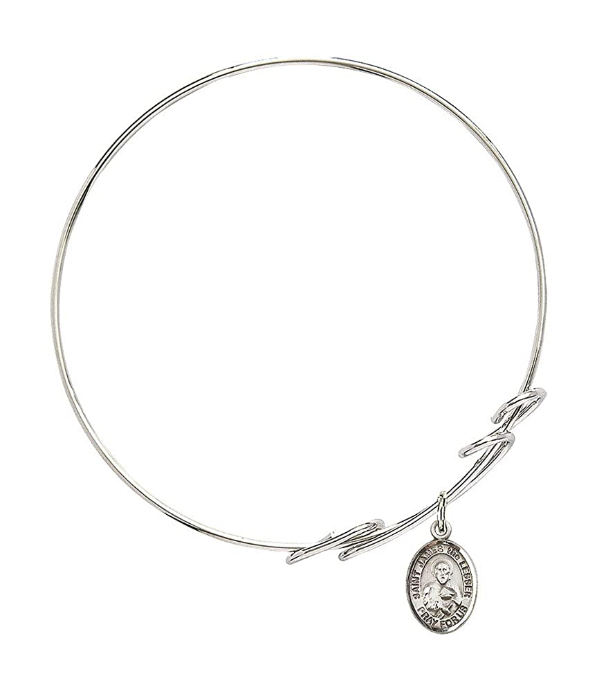 F A Dumont 7 1//2 inch Round Double Loop Bangle Bracelet a St James The Lesser Charm.