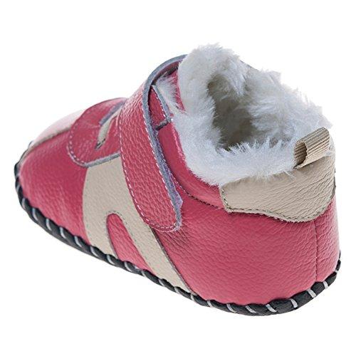 Espadrilles chaussures de bébé cuir souple - Fille - Rose 18-24 mois