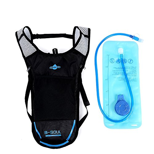 Hydration Camelback Systems (2L Water Bag 5L Bicycle Hydration Bladder Backpack Camping Hiking Camelback-Blue)