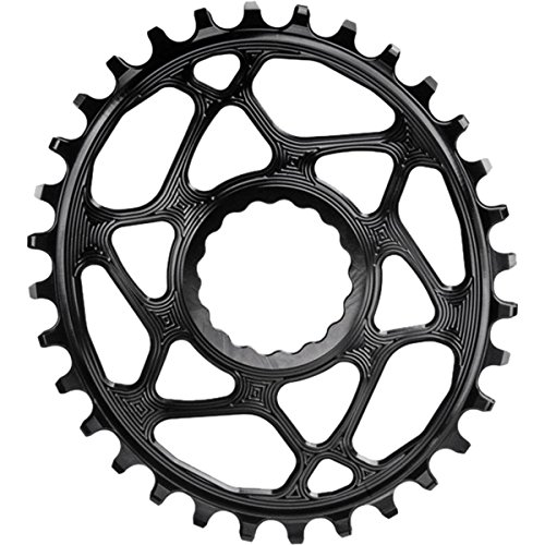 ABSOLUTE BLACK Race Face Oval Cinch Boost Direct Mount Traction Chainring Black, 30t Oval Race