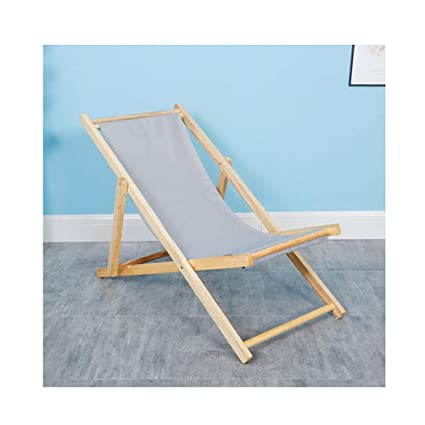 Amazon.com: Silla de playa de madera maciza ajustable al ...