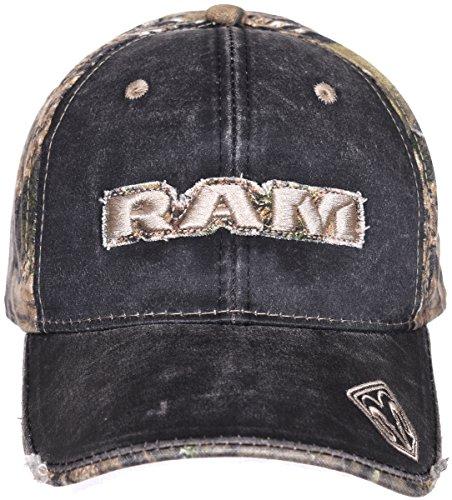 Dodge Ram Camouflage Adjustable Headwear Ball Cap a Mossy Oak Woodland Hat ()