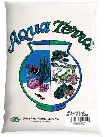Nature's Ocean Aqua Terra Natural White Sand 5 lb Bag, Natural Aquarium Sand ()