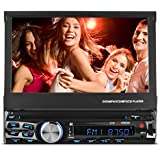 XO Vision X358 7 In-Dash Touch Screen DVD Receiver with Front USB & AV Inputs