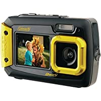 COLEMAN 2V9WP-Y 20.0 Megapixel Duo2 Dual-Screen Waterproof Digital Camera (Yellow) consumer electronics