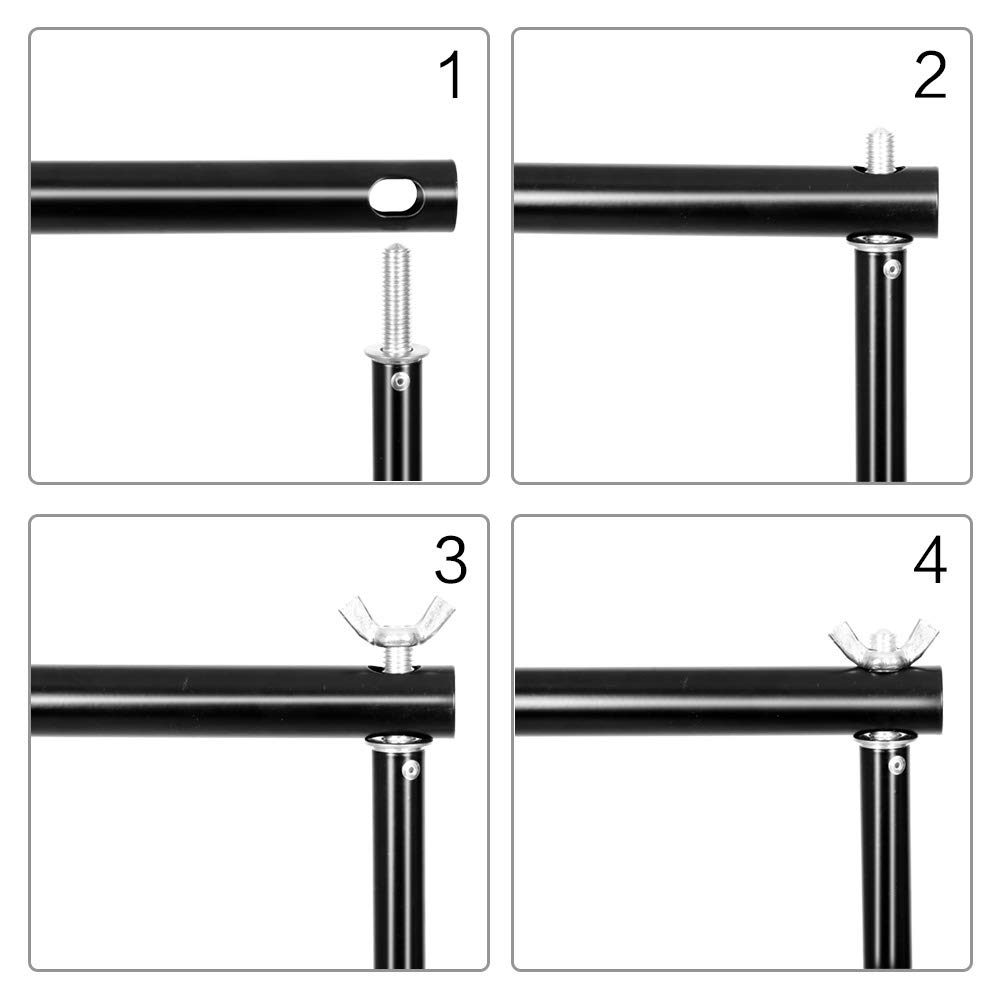SH 2.6 X 3M Adjustable Background Stand Background Support Kit Removable with Carry Bag for Hanging Background Cloth by SH (Image #5)