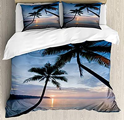 Microfiber Duvet Cover SetSunset Beach Thailand Duvet Cover SetDecorative 3 Piece Bedding Set with 2 Pillow Shams