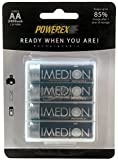 Powerex MHRAAI4 Imedion AA 2400mAh 4-Pack Rechargeable Batteries
