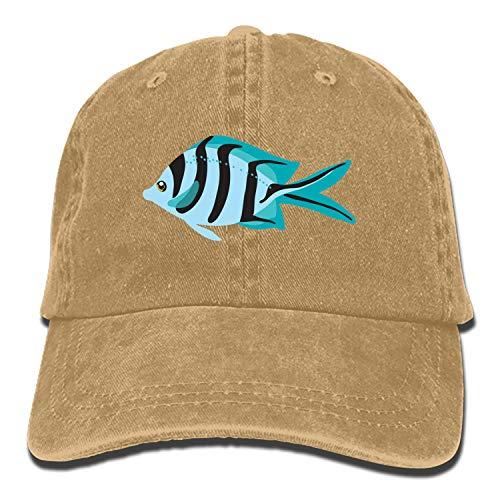 Fish Clipart Vintage Adjustable Jean Cap Gym Caps for Adult