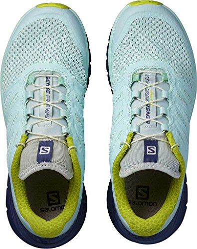 Salomon Sense Pro Max W, Zapatillas de Trail Running para Mujer, Azul (Fair Aqua/Crown Blue/Sulphur Spring), 36 EU